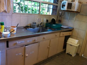Kitchen at Hostel