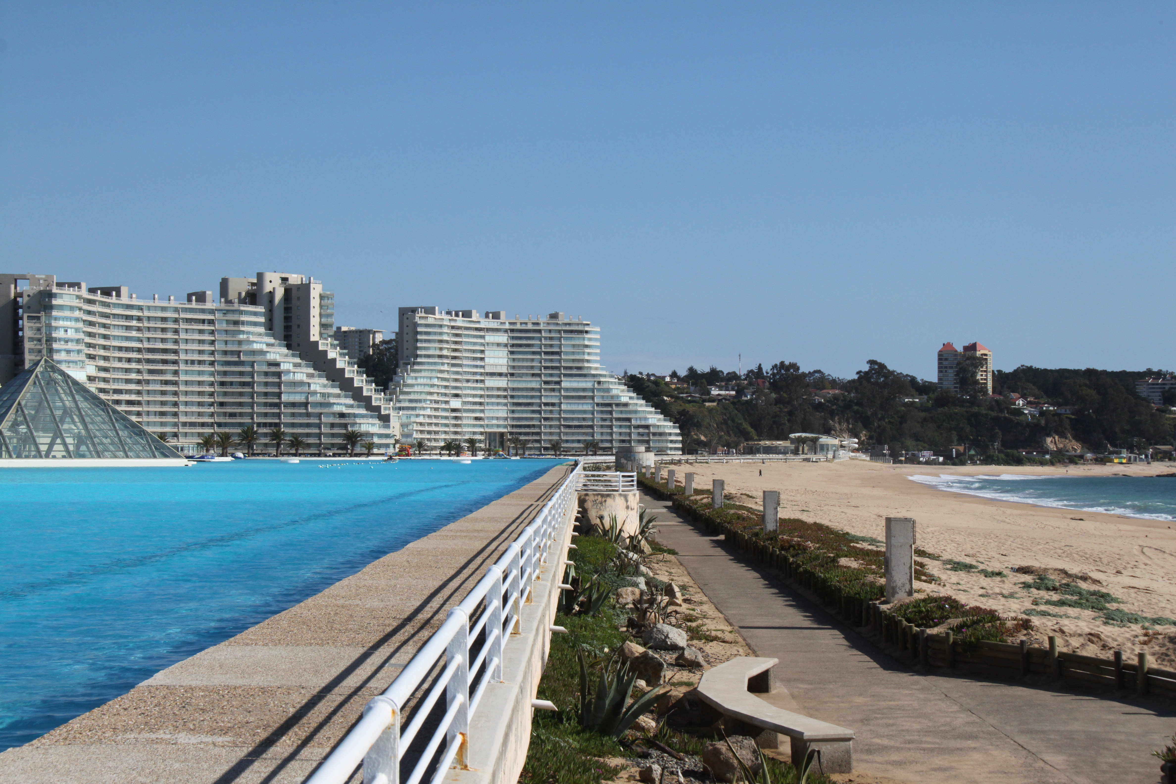 Amy lee an intro to my travel blog for San alfonso del mar swimming pool