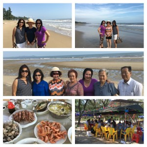 Seafood beachfront lunch with relatives! Yummy!
